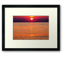Fire on the Lake Framed Print