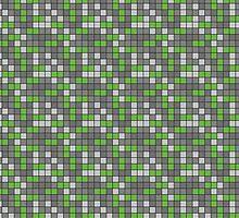 Minecraft - Emerald Ore Pattern by pidesignprints