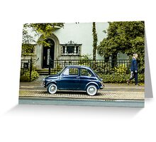 A car and a man Greeting Card