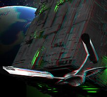 Star Trek - First Contact Borg Cube 3D Anaglyph by metacortex