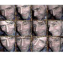 Barbwire Smiles Photographic Print