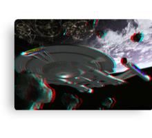 Star Trek Enterprise NX-01 Starship 3d Anaglyph Canvas Print