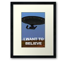 Star Trek: The Next Generation I Want to Believe Framed Print