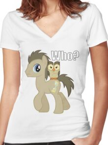 Doctor...Who? Women's Fitted V-Neck T-Shirt