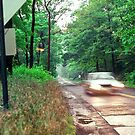 Speeding Car Through South Mountain Reservation by Kellice