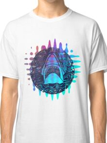 Blue and purple shark attack Classic T-Shirt