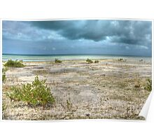 St Andrews Beach at Yamacraw on Eastern Nassau in The Bahamas Poster