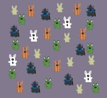 Halloween Rabbits T-shirt by Zozzy-zebra