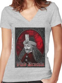 Vlad Dracula Gothic Women's Fitted V-Neck T-Shirt
