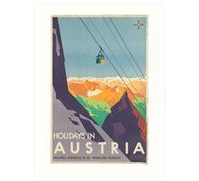 Vintage poster - Austria Art Print