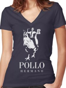 POLLO HERMANO Women's Fitted V-Neck T-Shirt