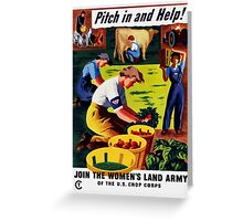 Join The Women's Land Army -- WWII Greeting Card