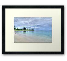 Jaws Beach in Nassau, The Bahamas Framed Print