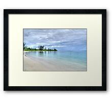Jaws Beach in Nassau, The Bahamas Framed Print