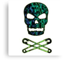 green punk skull Canvas Print