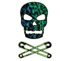 green punk skull Photographic Print