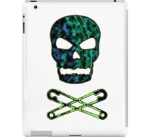 green punk skull iPad Case/Skin