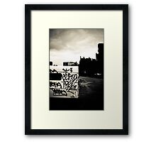 Black & White Town Framed Print