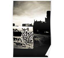 Black & White Town Poster