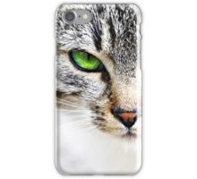 Green eye cat iPhone Case/Skin