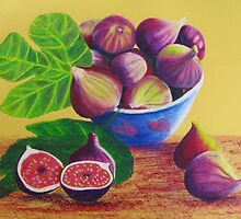 bowl of figs by Elena Malec