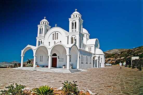 CHURCH OF AGHIOS ARSENIOS, PAROS,GREECE by vaggypar