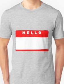 my name is name tag T-Shirt