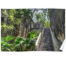 Queen's Staircase in Nassau, The Bahamas Poster