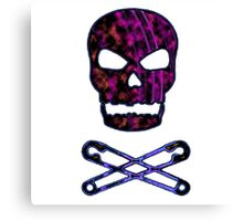 pink punk skull Canvas Print