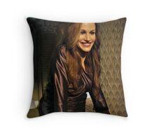Julia Roberts Wax Figure, Madame Tussauds NYC Throw Pillow