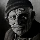 old man with a hat by azatyeman