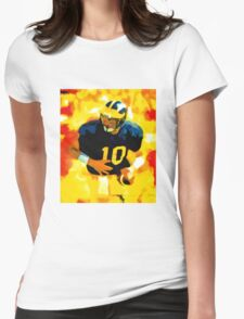 Mr. Tom Brady at Michigan Womens Fitted T-Shirt