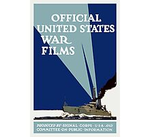 Official United States War Films -- WWI Print Photographic Print