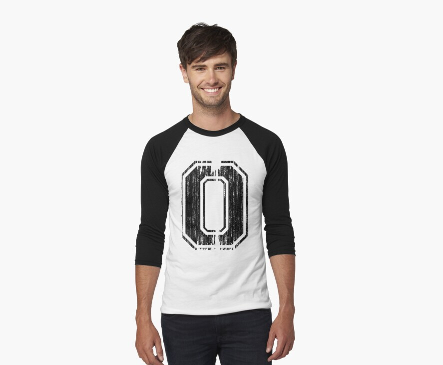 Bold Distressed Sports Number 0 by adamcampen