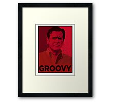ASH WILLIAMS GROOVY (Ash vs Evil Dead) Framed Print
