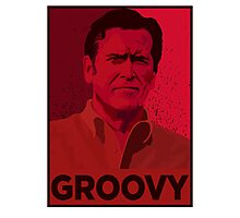 ASH WILLIAMS GROOVY (Ash vs Evil Dead) Photographic Print