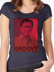 ASH WILLIAMS GROOVY (Ash vs Evil Dead) Women's Fitted Scoop T-Shirt