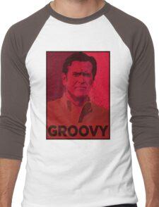 ASH WILLIAMS GROOVY (Ash vs Evil Dead) Men's Baseball ¾ T-Shirt