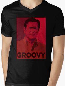 ASH WILLIAMS GROOVY (Ash vs Evil Dead) Mens V-Neck T-Shirt
