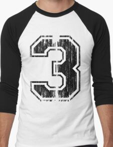 Bold Distressed Sports Number 3 T-Shirt