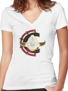 Chrono Trigger icon Women's Fitted V-Neck T-Shirt