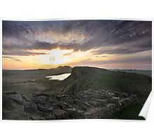 Hadrian's Wall from Castle Nick (near Sycamore Gap) Poster