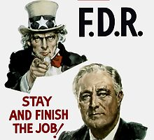 I Want You FDR -- Uncle Sam WWII Poster by warishellstore