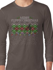 Merry Flippin' Christmas - A Gymnast's Christmas Sweater Long Sleeve T-Shirt