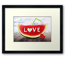 from Summer with LOVE Framed Print