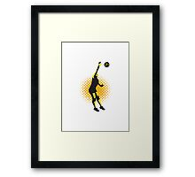 Volleyball Player Spiking Ball Retro  Framed Print