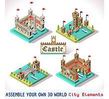 Medieval Castle Tiles Photographic Print