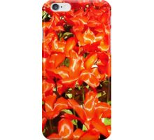 tulips field iPhone Case/Skin