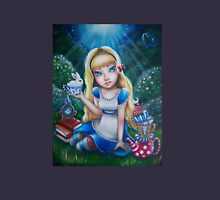 """Alice in Wonderland """"The Tea Party"""" Womens Fitted T-Shirt"""