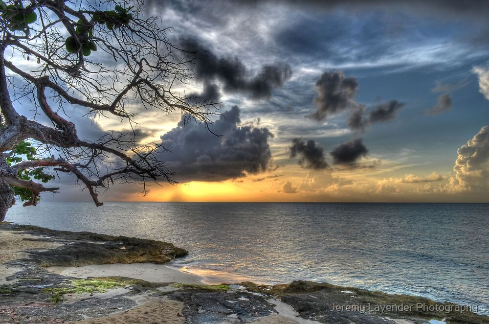 Sunset over Love Beach in Nassau, The Bahamas by Jeremy Lavender Photography